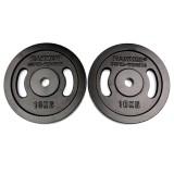 Finnlo FINNLO Gewichtsscheiben 2x 10 kg, schwarz schwarz