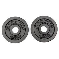 Весовые диски для гантелей HAMMER 2 x 1,25 кг